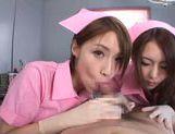 Luscious nurses Ayu Sakurai and Risa Mizuki share big rod picture 11