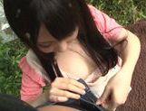 Young Kimika Ichijou kneeling and sucking cock