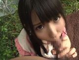 Young Kimika Ichijou kneeling and sucking cock