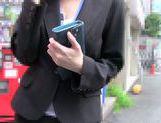 Lovely Japanese AV Model flirts with her horny colleague