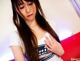 Shiori Kitajima Pretty Asian girl gives a blowjob picture 4