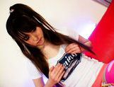 Shiori Kitajima Pretty Asian girl gives a blowjob