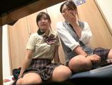 Japanese AV Model is a nice teen giving amateur blowjob picture 12