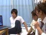 Japanese AV Model is a nice teen giving amateur blowjob picture 14