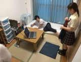 Japanese AV Model is a nice teen giving amateur blowjob