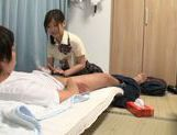 Japanese AV Model is a nice teen giving amateur blowjob picture 80
