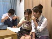 Japanese AV Model is a nice teen giving amateur blowjob