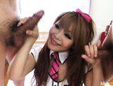 Pretty Asian girl gives a hot blowjob