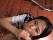 POV with cum on face of a nice teen AV model
