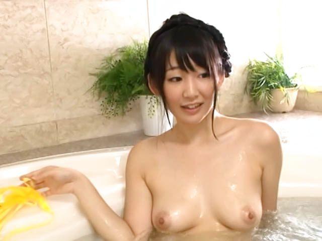 Dark-haired Asian seductress Kurumi Tanigawa poses for a cam