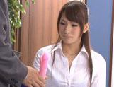 Japanese Yui Ooba in sexy stockings loves to masturbate picture 12