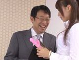 Japanese Yui Ooba in sexy stockings loves to masturbate picture 13