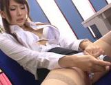 Japanese Yui Ooba in sexy stockings loves to masturbate picture 35