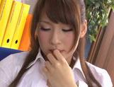 Japanese Yui Ooba in sexy stockings loves to masturbate picture 40
