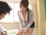 Japanese Yui Ooba in sexy stockings loves to masturbate picture 6