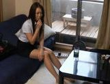 Japanese doll is a kinky office chick