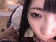 Skillful Asian schoolgirl Ai Uehara sucks dick and rides it on pov video