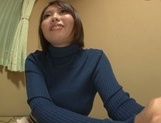 Playful cheerleader Hina Kamikawa strips and enjoys cock in pussy