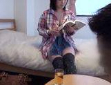 Busty Japanese AV girl with big ass likes deep penetration