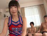 Sporty teen sweetie Miyu Nakatani rides hard cocks