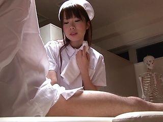 Hot Japanese teen cock lover Azusa Kato gives a nice handjob