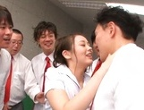 Experienced Japanese teacher Beni Itou squirts and gets bukkake picture 13