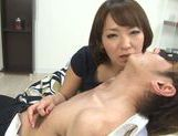 Lusty Asian milf in sexy linerie in a hot pov Asian blowjob scene picture 16