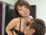 Lusty Asian milf in sexy linerie in a hot pov Asian blowjob scene picture 77