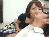 Lusty Asian milf in sexy linerie in a hot pov Asian blowjob scene