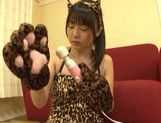 Teen kitty Tsubomi in black stockings vibrates her pussy picture 5