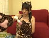 Teen kitty Tsubomi in black stockings vibrates her pussy picture 6