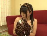 Teen kitty Tsubomi in black stockings vibrates her pussy picture 8