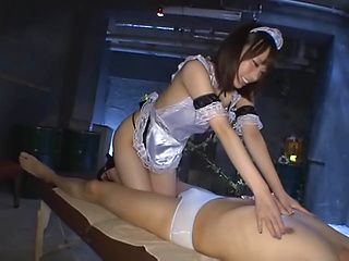 Beautiful Asian maid Misuzu Kawana gives blowjob service