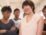 Lustful Japanese milf with tiny tits Makoto Yuuki fucked by crazy guys