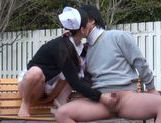 Wild Japanese nurse in sexy pantyhose gets her slit creamed picture 61
