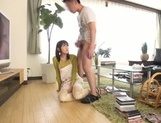Busty Japanese housewife gives head and enjoys titfuck picture 55