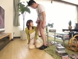 Busty Japanese housewife gives head and enjoys titfuck picture 56