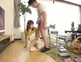 Busty Japanese housewife gives head and enjoys titfuck picture 57
