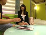 Attractive Japanese schoolgirl likes to get her pussy pleased picture 13