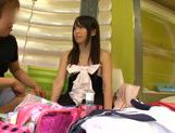 Attractive Japanese schoolgirl likes to get her pussy pleased picture 21