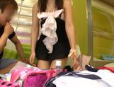 Attractive Japanese schoolgirl likes to get her pussy pleased picture 23