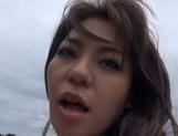 Adorable Asian hottie with huge tits Mizuki Ann enjoys outdoor sex picture 12