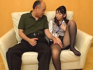 Japanese AV Model enticed into sex in the office