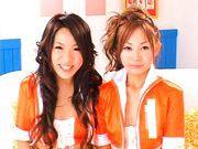 Kanako Tsuchiya and Saori Naughty lesbian Asian racequeens
