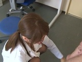 Kinky Japanese schoolgirl Yui Hasebe engulfs dick enjoys titfuck picture 13