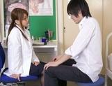 Kinky Japanese schoolgirl Yui Hasebe engulfs dick enjoys titfuck