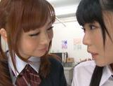 Rumi Kamida and Sayaka Otonashi amazing Japanese schoolgirls picture 12