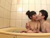 After a warm bath, Rei Mizuna feels like playing with her pussy picture 13