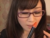 Unsatisfied Japanese teacher gives a cute throat job and rides dick