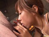 Yurika Momose hot Asian model gives a double blow job picture 14
